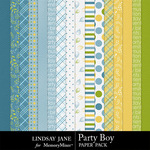 Party Boy Paper Pack-$3.49 (Lindsay Jane)