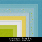 Party Boy Embossed Paper Pack-$1.99 (Lindsay Jane)