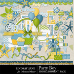 Party Boy Embellishment Pack-$3.49 (Lindsay Jane)