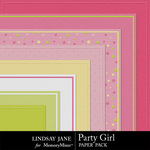 Party Girl Embossed Paper Pack-$1.99 (Lindsay Jane)