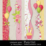 Party Girl Borders-$1.99 (Lindsay Jane)