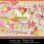 Party Girl Embellishment Pack-$3.49 (Lindsay Jane)