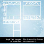 Blue Jeans and Day Dreams Big Words Inkers-$2.99 (Ettes and Company by Fayette)