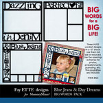 Blue Jeans and Day Dreams Big Words Pack-$2.99 (Ettes and Company by Fayette)