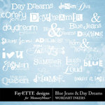 Blue Jeans and Day Dreams WordArt Inkers-$2.49 (Ettes and Company by Fayette)