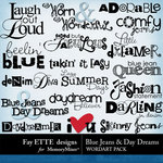 Blue Jeans and Day Dreams WordArt Pack-$2.49 (Ettes and Company by Fayette)