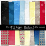 Blue Jeans and Day Dreams Paper Pack 2-$2.99 (Ettes and Company by Fayette)