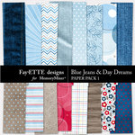 Blue Jeans and Day Dreams Paper Pack 1-$2.99 (Ettes and Company by Fayette)