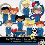 Blue Jeans and Day Dreams Denim Kids Pack-$2.99 (Ettes and Company by Fayette)