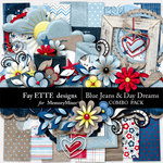 Blue Jeans and Day Dreams Combo Pack-$3.00 (Fayette Designs)