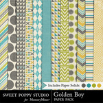 Golden Boy Paper Pack-$3.99 (Sweet Poppy Studio)