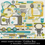 Golden Boy Embellishment Pack-$2.99 (Sweet Poppy Studio)