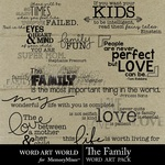 The Family WordArt-$2.49 (Word Art World)