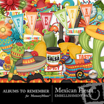 Mexican Fiesta Embellishment Pack-$1.49 (Albums to Remember)