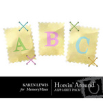 Horsin Around Alphabet Pack-$1.49 (Karen Lewis)