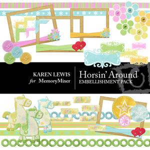 Horsin  around embells large medium