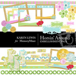 Horsin Around Embellishment Pack-$3.49 (Karen Lewis)