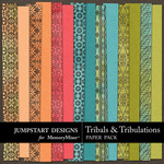 Tribals and Tribulations Paper Pack 2-$3.49 (Jumpstart Designs)