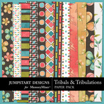 Tribals and Tribulations Patterned Paper Pack-$2.99 (Jumpstart Designs)