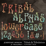 Tribals and Tribulations Alpha Pack-$1.49 (Jumpstart Designs)