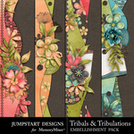 Tribals and Tribulations Borders-$2.49 (Jumpstart Designs)