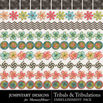 Tribals and Tribulations Trim-$2.49 (Jumpstart Designs)