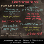 Tribals and Tribulations WordArt-$2.49 (Jumpstart Designs)