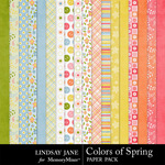 Colors of Spring Paper Pack-$3.49 (Lindsay Jane)