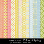 Colors of Spring Pattern Paper Pack-$3.49 (Lindsay Jane)