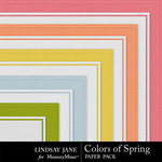 Colors of Spring Embossed Paper Pack-$1.99 (Lindsay Jane)