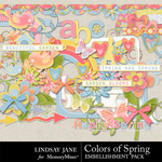Colors of Spring Embellishment Pack-$3.49 (Lindsay Jane)