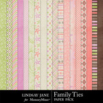 Family Ties Paper Pack-$3.49 (Lindsay Jane)