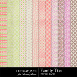 Family Ties Pattern Paper Pack-$3.49 (Lindsay Jane)