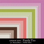 Family Ties Embossed Paper Pack-$1.99 (Lindsay Jane)
