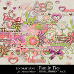 Family Ties Embellishment Pack-$3.49 (Lindsay Jane)