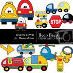 Beep Beep Chipboard Pack-$2.49 (Karen Lewis)