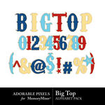 Big Top Alpha Pack-$1.50 (Adorable Pixels)