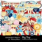 Big Top Embellishment Pack-$3.49 (Adorable Pixels)