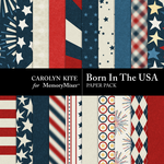 Born In The USA Paper Pack-$1.75 (Carolyn Kite)