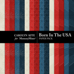 Born In The USA Paper Pack 2-$1.75 (Carolyn Kite)