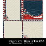 Born In The USA Stacked Paper Pack-$3.49 (Carolyn Kite)