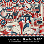 Born In The USA Embellishment Pack-$3.49 (Carolyn Kite)