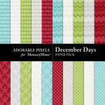 December Days Paper Pack 2-$1.75 (Adorable Pixels)