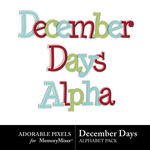 December Days Sticker Alpha Pack-$2.49 (Adorable Pixels)