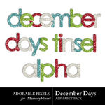 December Days Tinsel Alpha Pack-$2.99 (Adorable Pixels)