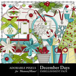 December Days Embellishment Pack-$3.49 (Adorable Pixels)