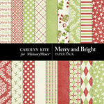 Merry And Bright Paper Pack-$3.49 (Carolyn Kite)