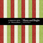 Merry And Bright Embossed Paper Pack-$3.49 (Carolyn Kite)