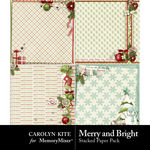 Merry And Bright Stacked Paper Pack-$3.49 (Carolyn Kite)