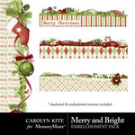 Merry And Bright CK Layered Edge Pack-$1.20 (Carolyn Kite)
